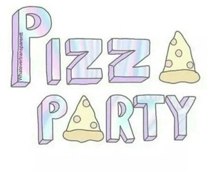 party, pizza, and pizza party image