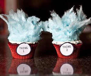 cupcake, thing 1, and thing 2 image