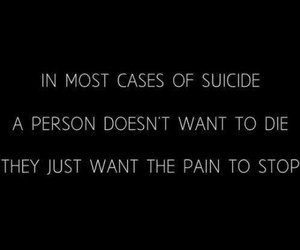suicide, pain, and quotes image