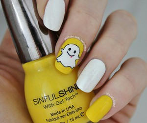 nails, snapchat, and nail art image