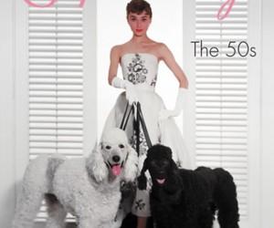 50s, audrey hepburn, and dog image