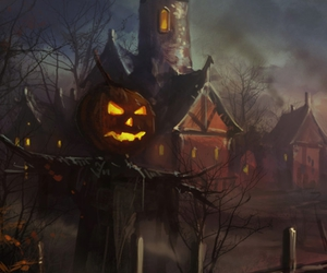 Halloween, scarecrow, and scary image
