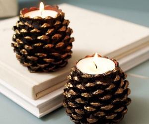 diy, candle, and christmas image
