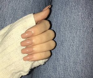 beige, jeans, and nails image