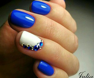 nails, blue, and nails art image