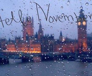 november, london, and rain image