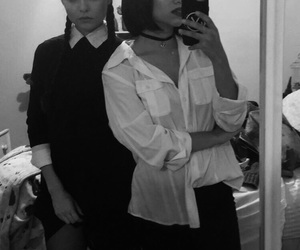 best friends, besties, and gothic image