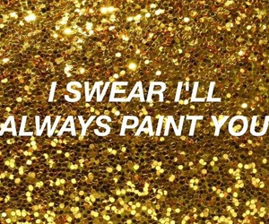 aesthetic, gold, and paint image