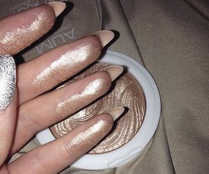 makeup, nails, and highlighter image