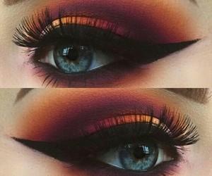 eyes, liner, and mackup image