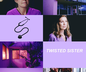 meredith grey, grey's anatomy, and twisted sister image