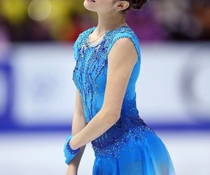 blue, figure skating, and ice image