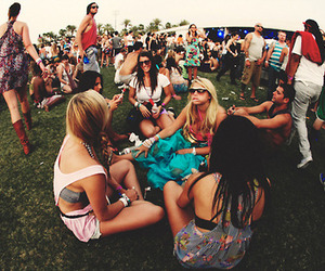 girl, festival, and party image