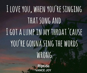 cool, riptide, and Lyrics image