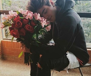 boy, flowers, and sebastian villalobos image
