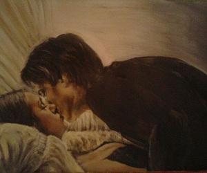 couple, the vampire diaries, and elena gilbert image