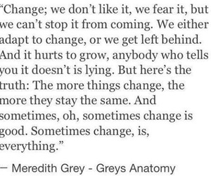 quotes, change, and greys anatomy image