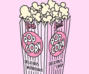 popcorn, pink, and wallpaper image