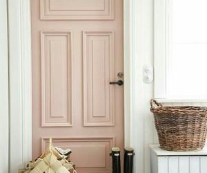 pink, home, and door image