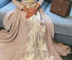 caftan, dress, and hijab image