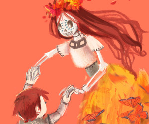 day of the dead, dia de muertos, and dibujo image