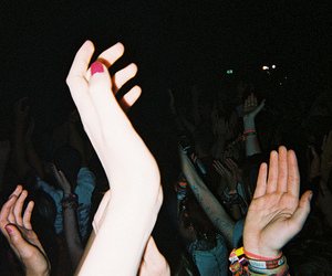 grunge, party, and hands image