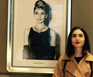 audrey hepburn and lily collins image