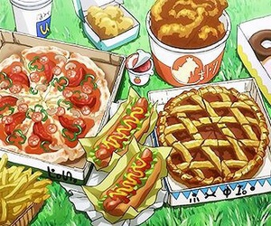 pizza, food, and pie image