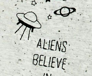 aliens, belive, and us image