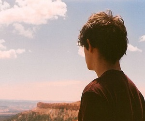 boy, sky, and photography image
