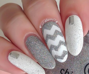 fashion, nails, and silver image
