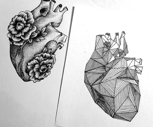 heart, art, and drawing image