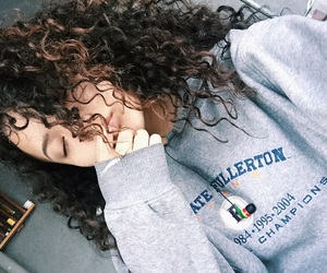 90s, curly, and girl image