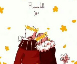 sans, frisk, and flowerfell image