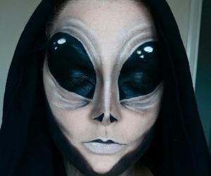 Halloween, alien, and makeup image