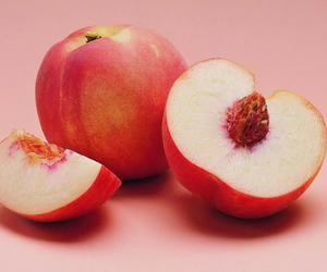 peach, fruit, and pink image