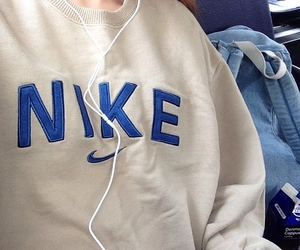 nike, blue, and pale image