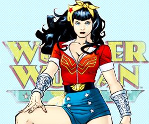 wonder woman, dc comics, and bombshells image