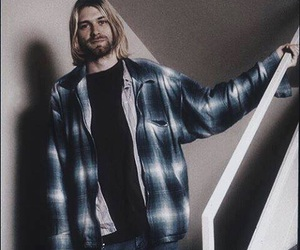 cobain, rock, and kurt image