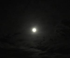 dark, full moon, and moon image