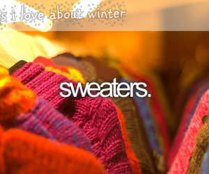 winter and sweaters image