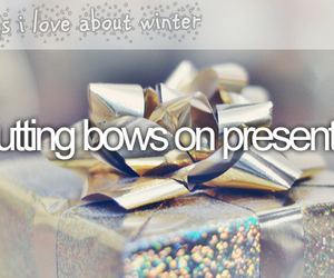 christmas, winter, and bows image