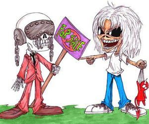 iron maiden, megadeth, and music image