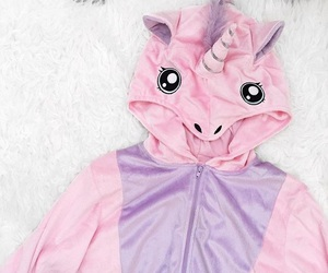 pink, white, and unicorn onesie image