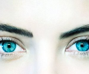 blue eyes, eyebrows, and pretty little liars image
