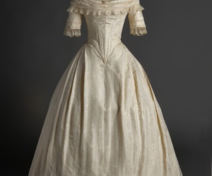1840s, bridal, and elegant image