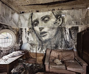 art, rone, and black and white image