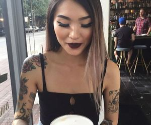 asian girl, ombre, and blonde hair image