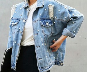 denim jacket, hipster, and ootd image