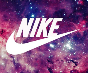 nike, galaxy, and wallpaper image